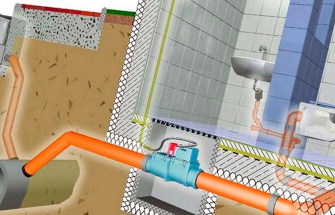 Размещение вакуумного клапана для канализации