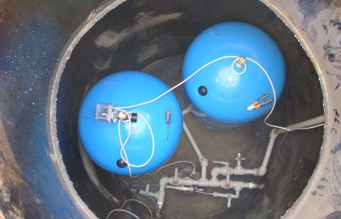 Монтаж гидробака для системы водоснабжения