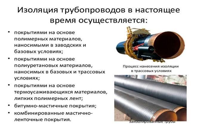 Изоляция трубопроводов